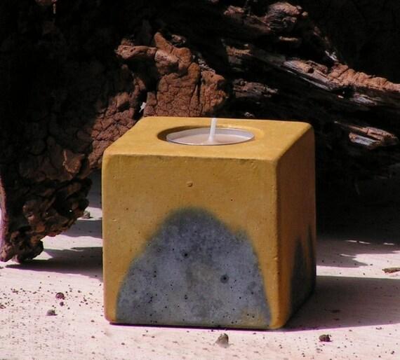 No.7 Cube Concrete  Tea Light Candle Holder