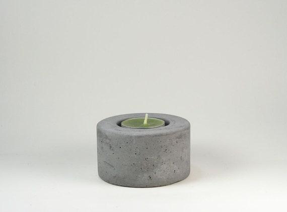 No.2  Round Concrete  Tea Light  Candle Holder