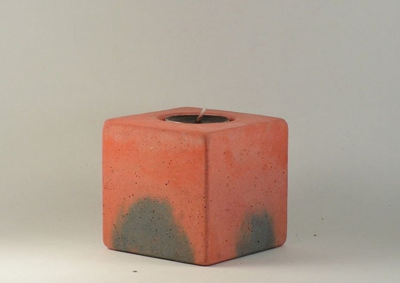 No.12 Cube Concrete  Tea Light Candle Holder
