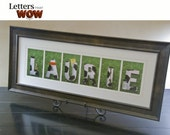Custom Soccer Name 3 to 5 Letters Framed, personalized Soccer Gift, special soccer gift for coach or Soccer fan