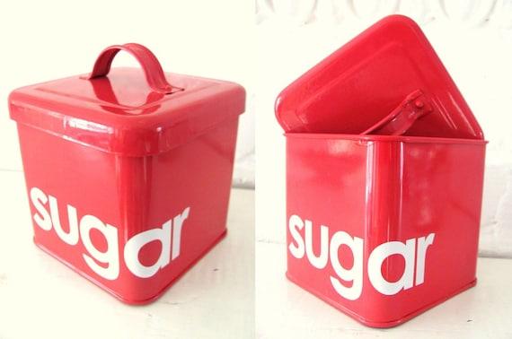 Vintage Sugar Tin. Pink Cinnamon.