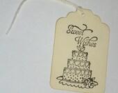 Sweet Wishes Wedding Cake Handmade Gift Wish Wedding Tag 6 Pieces