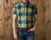 Vintage Braidburn Single Needle Shirt in Green Plaid
