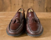 Vintage Florsheim Brown Leather Tassel Loafers