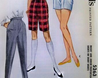 Vintage 1959 McCall's Slacks, Pants, Shorts Pattern sz 26 waist