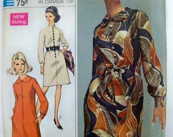 Vintage Mad Men Designer Fashion Dress Simplicity Pattern uncut size 12