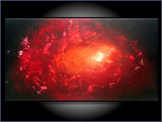 """Storewide SUPER SALE. Add 20% Off. Modern Abstract. Original Painting. Large 18x36. """"A Star is Born"""" by RenaeSchoeffelArt"""