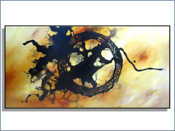 """Super SALE. Click for details. 36"""". Modern Abstract. Original Painting. Free Shipping. """"Contradiction"""" by Renae Schoeffel"""
