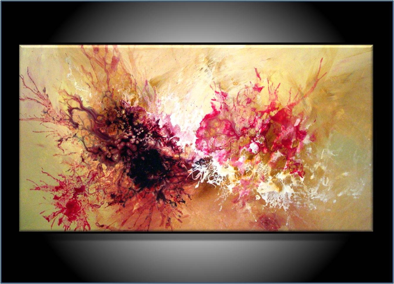 Commission painting modern abstract art by renaeschoeffelart for Contemporary mural art