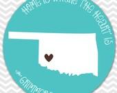 Custom Melamine State Plate -- Oklahoma (every state available)