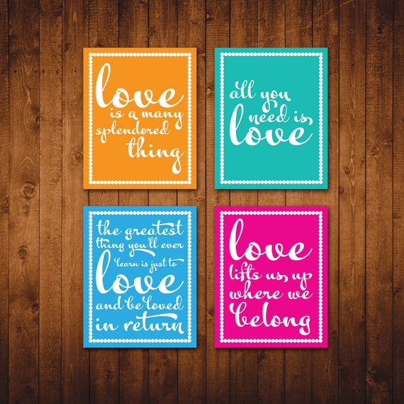 Love Quotes For Wall Art : Items similar to instant download valentine s day wall art