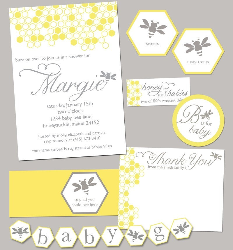 bumble bee baby shower party pack jpeg bumblebee by rvparties
