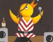 Karaoke Chicken...(6A)...SUPERSIZED