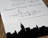 20 reprinted wedding invites