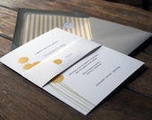 Modern Wedding Invitation, Billy Ball Wedding Invitations,Modern Yellow Wedding Invitations,Craspedia Flower Invites,Yellow Wedding Invites