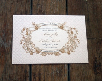 Vintage Save the Date French Baroque Custom DYI digital files ~ we print or DYI