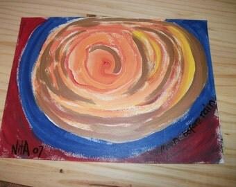 Moon Before Rain original folk art marked 1/2 off sale