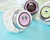 25 Personalized 1st BIRTHDAY Mini Candy JAR FAVORS - Great for any Age...Sweet, Unique and Affordable Favors