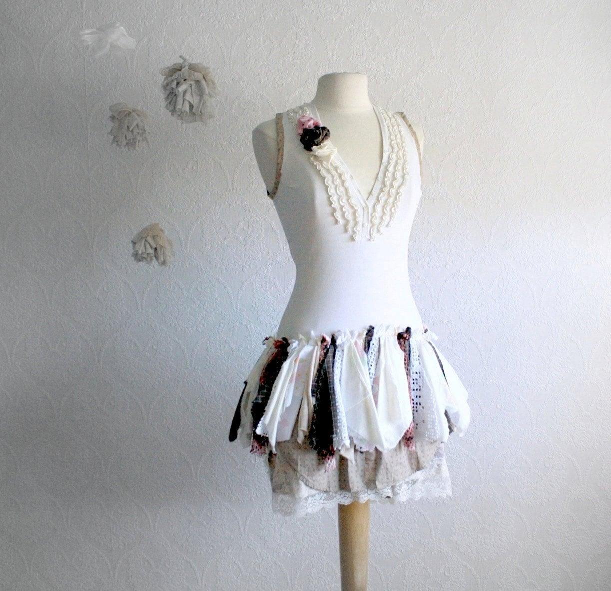 Shabby Chic Fairy Dress Women S Clothing Small Tattered
