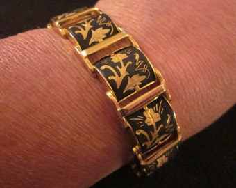 VTG Damascene Style 10 Panel Bracelet
