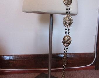 Vintage Gold Tone Fashion Belt - GORGEOUS