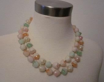 1950s Pastel Colored Plastic Necklace