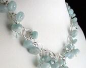 Aquamarine Necklace Set Sterling
