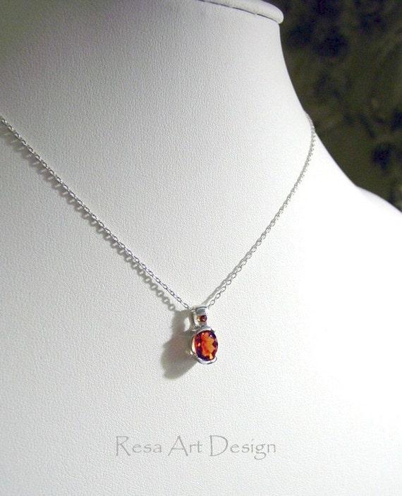 Fire Citrine Necklace AAA Fair Trade Gemstone