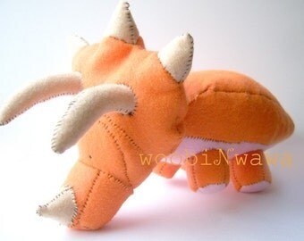 Dimple the Triceratops- Felt Animal