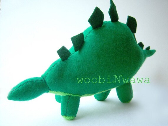Poke the Stegosaurus- Felt Animals