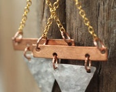 Dangly Earrings, Mixed Metal Jewelry, Gift for Her