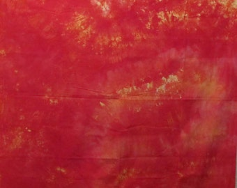 63121 Red and Yellow fabric 1 yard