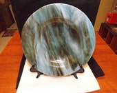 Blue Brown Stained Glass Bowl