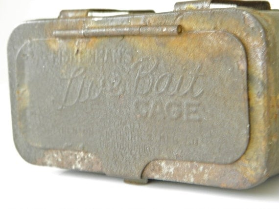 Vintage Bait Box Live Bait Cage For Crickets or Bugs Great Gift Box Idea