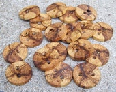 Rustic Spalted Oak Tree Branch Wood Buttons -  Set Of 12 - Perfect For Crochet, Knit And Craft Projects - 1 inch - 253
