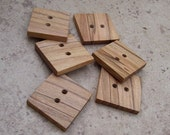 Spalted Maple Wood Wooden Buttons -  Great Accessory For Knits, Sewing And Crochet Projects - 172