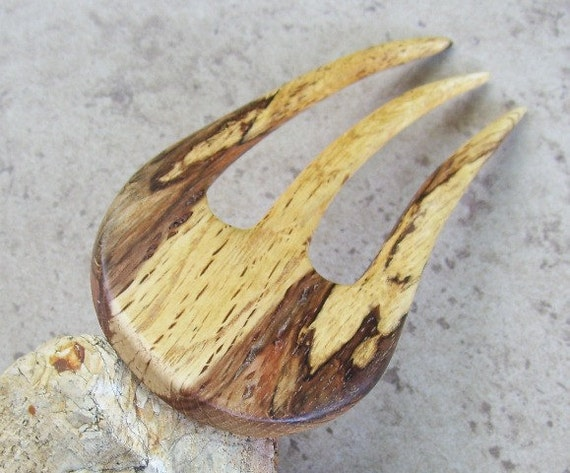 "Rustic Oak Tree Branch Three Prong Hair Fork - Great Gift Item - 5 1/8""(13cm) - 894"