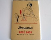 VINTAGE notebook STENOGRAPHER pad 1960s OLD STORE STOCK