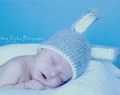 Crochet newborn baby beanie hat diaper cover BUNNY photo prop