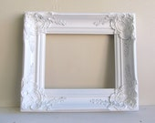For Ashli - Photo Prop Ornate Picture Frame Vintage Wedding Antique Shabby Chic Hollywood Regency Photograph Prop 8x10 YOUR COLOR CHOICE