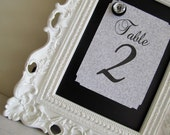 Wedding Table Numbers Framed Chalkboard Picture Frame Magnetic Candy Bar Sign Buffet Sign Birthday Party Decoration- YOU PICK COLOR