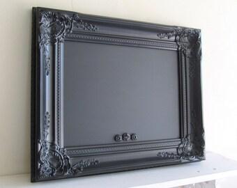 Black FRAMED CHALKBOARD Vintage Style Wedding Sign MAGNETIC Photo Booth Sign Kitchen Chalk Board Black Board Gothic Magnet Board
