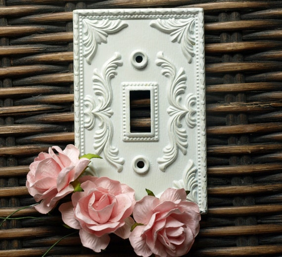 Shabby Chic Vintage Antique Light Switch Plate