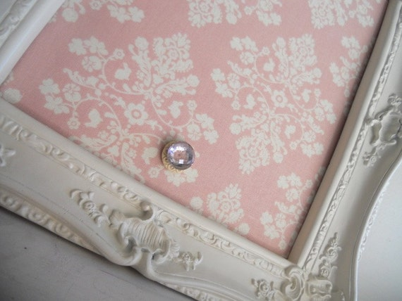 10inx12in Vintage Antique Shabby Chic Light Pink Ornate Magnetic Board - LAST ONE