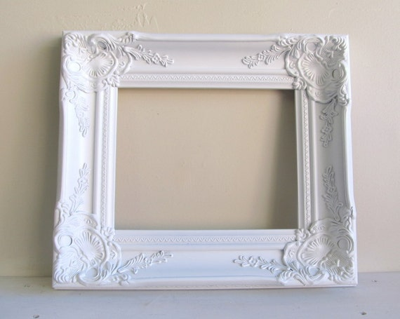 Ornate Frame Vintage Wedding Antique Inspired Shabby Chic Wall Decor Hollywood Regency Photograph Prop 8x10 YOUR COLOR CHOICE