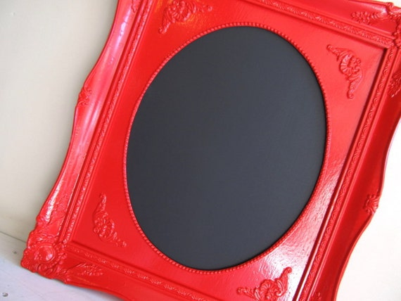 READY TO SHIP Christmas Gift Framed Chalkboard Red Black Board Kitchen Chalk Board Gift for Mom Message Board