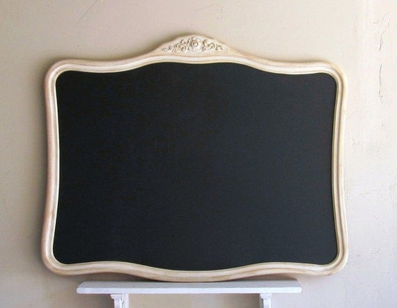X Large CHALKBOARD Vintage Ornate Framed Shabby Chic French Country Wedding Sign Picture Display Office Decor MAGNETIC Bulletin Board