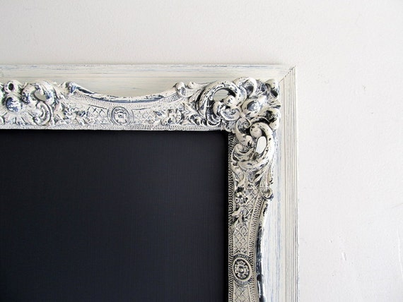 Vintage CHALKBOARD Wedding Sign Decoration Decor MAGNETIC Chalk Board Black Cream Ivory Ornate Wedding Menu Decorative