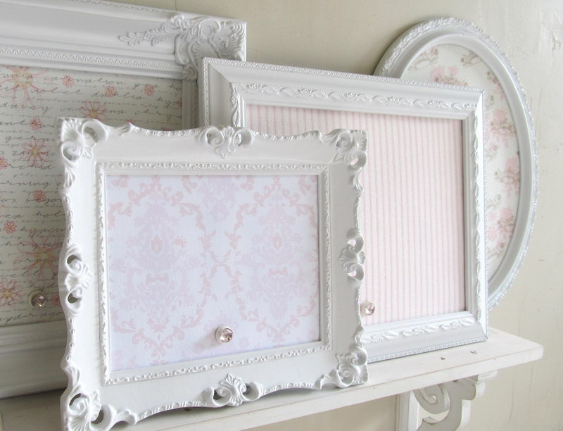 shabby chic nursery decor magnet board collection pink wedding. Black Bedroom Furniture Sets. Home Design Ideas