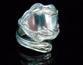 Sterling Silver Spoon Ring - Silverware Jewelry